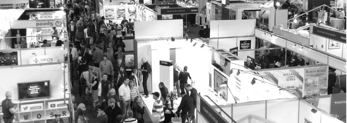 Visitors at the Sydney Home Show